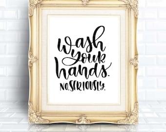 Bathroom Sign SVG | Wash Your Hands | Funny SVG | Bathroom SVG | Bathroom Decor svg | svg for Bathroom | Bathroom Decor | Bathroom Sign