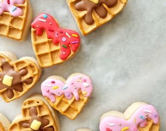 Waffle-Heart Sugar Cookies