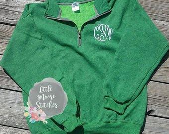 Monogram Quarter Zip Sweatshirt