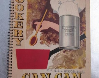 1950s CAN CAN COOKERY 107 Exciting New Recipes Bhp Cookbook Vintage Ringbound Cook Book