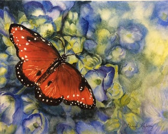 Hovering Monarch ( Giclee print)
