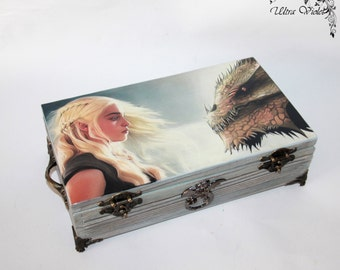 Exclusive tea box, tea,  tea bag,  box, wood,Daenerys Targaryen,Game of Thrones,Khaleesi