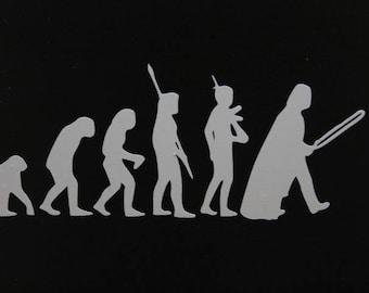 Car, Laptop, Ipad, MacBook Star Wars Evolution decal, Darth Vader Evolution decal, Star Wars Geekery, Cool Stocking Stuffer