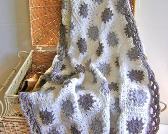Grey Granny Goodness Blanket Pattern - For the Advanced Beginner INSTANT DOWNLOAD