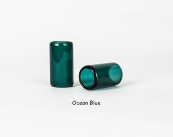 Handcrafted Glass Guitar Slides - 28 mm diameter - Ocean Blue