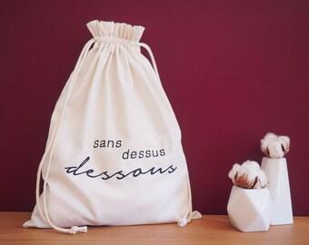 Upside down lingerie bag