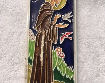 "Saint Francis of Assisi Ceramic Tile San Francesco 6"" Friar Roman Catholic"