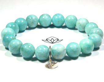 "Blue Amazonite 18 x 11.3mm Beads 35g Wrist 6 3/4"" Stretch Bracelet - Rare Beads"