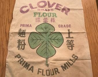 Two vintage flour sacks
