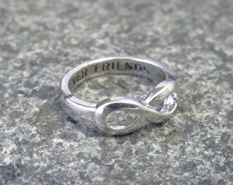 SET OF TWO Same Day Shipping , Best Friends Infinity Ring, Infinity Sisters, Infinity Rings For Best Friends, Best Gift For Friends