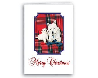 Scottish Christmas Cards - Red Westies