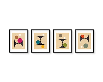 PER FORMARE 8x10 Format - Collection of (4) Giclee Prints - Abstract Mid Century Modern