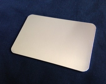16 Gauge - Aluminum Wallet Card Stamping Blanks, Aluminum Credit Card Stamping Blanks, Aluminum Blanks, Stamping Blanks Co.