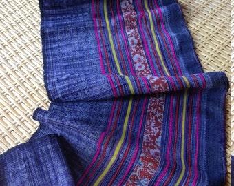 Vintage Hmong Handmade Hemp Hilltribe Batik Indigo Craft supplies