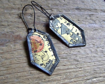 Recycled  tin earrings     *8