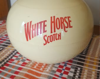 Vintage & Rare White Horse Scotch Whiskey Plastic Ice Bucket