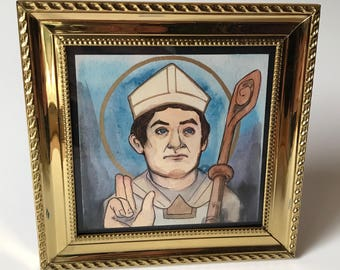 Saint Marcellus of Paris Petite Painting