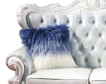 Ombre Blue Pillow