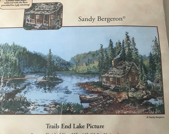 Trails End Lake Counted Cross by Candamar Designs/Sandy Bergeron - Counted Cross Stitch Kit - Unused and Complete in Package
