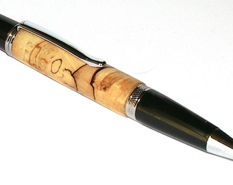 Wood Pen - Spalted Maple Ballpoint Pen