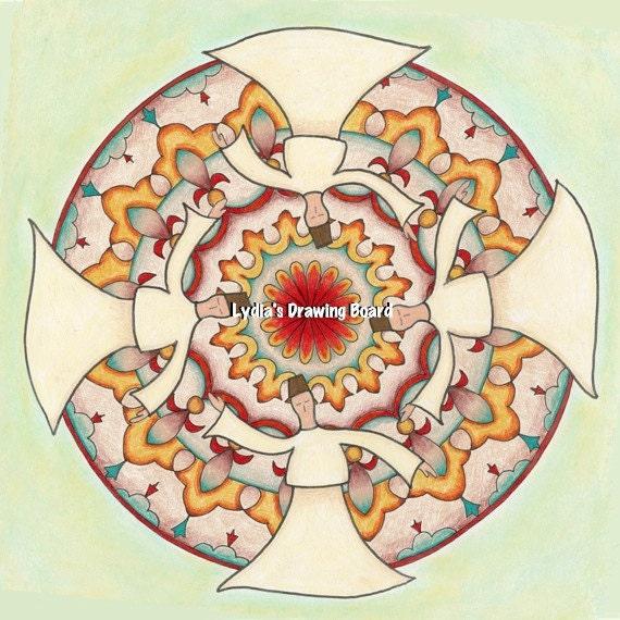 Mandala Print, Mandala Wall Art, Rumi Art, Rumi Print, Meditation Art, Yoga Art, Energy Art, Spiritual Art, Yoga Studio Decor, Sufi, Dervish