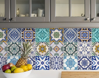 Delicieux Traditional Spanish Tile Decals   Tile Stickers Set   Spanish Traditional  Tiles Kit   Tiles For Kitchen   Kitchen Backsplash   PACK OF 24