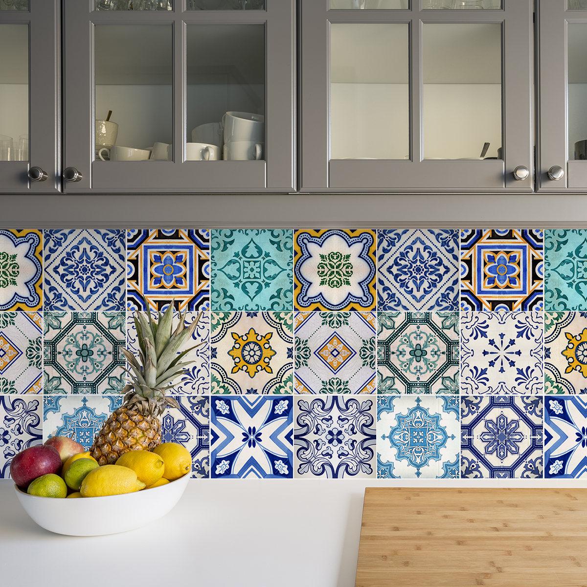 Lujoso Pared De La Cocina Marroquí Azulejos Reino Unido Foto - Ideas ...