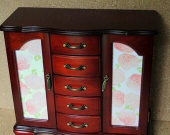 Cherry jewelry box Etsy