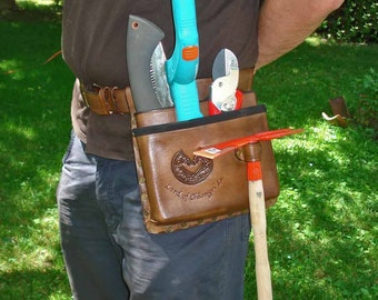 Leather Tool Belt With One or Two Pockets