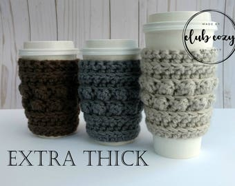 THICK Bobble Cup Cozy | Crochet Cup Cozy | Crochet Mug Cozy | Coffee Cup Cozy | Coffee Gift | Tea Gift | Thank You Gift | Stocking Stuffer