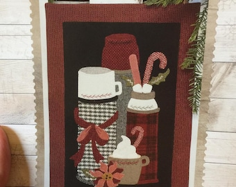 Holiday Thermoses wool applique kit