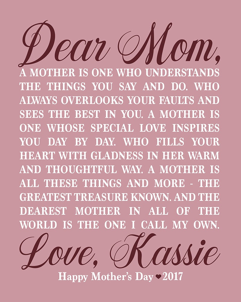 Personalized mothers day gift for mom from daughter mom poem gallery photo gallery photo gallery photo gallery photo altavistaventures Choice Image
