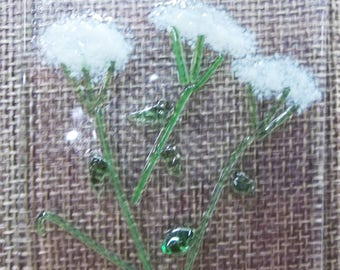 Queen Anne's Lace (Wild Carrot) Fused Glass Suncatcher