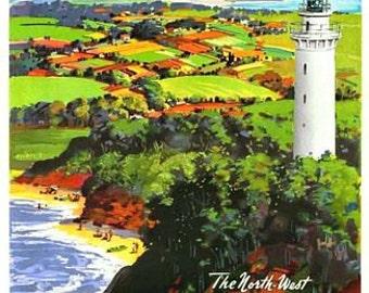 Vintage Tasmania Australian Tourism Poster A3 Print