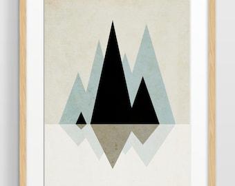 Geometric Print, Large Wall Art, Scandinavian Art, Minimalist Art, Mid Century Modern, Abstract Wall Art, Modern Minimalist, Giclee Print