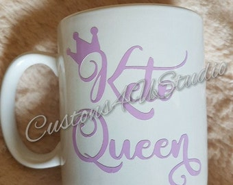 Keto Queen Mug, Keto Diet,Queen Mug, Gift for her, Ketogenic Diet, Coffee Mug