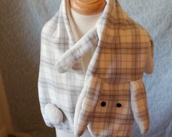 Cute Bunny Scarf, Animal Scarf, for toddlers, children and adults!