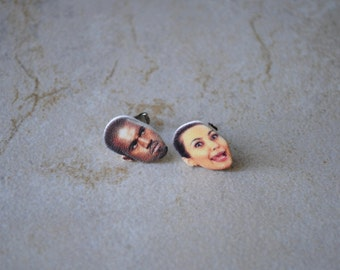 Kim and Kanye Earring Studs