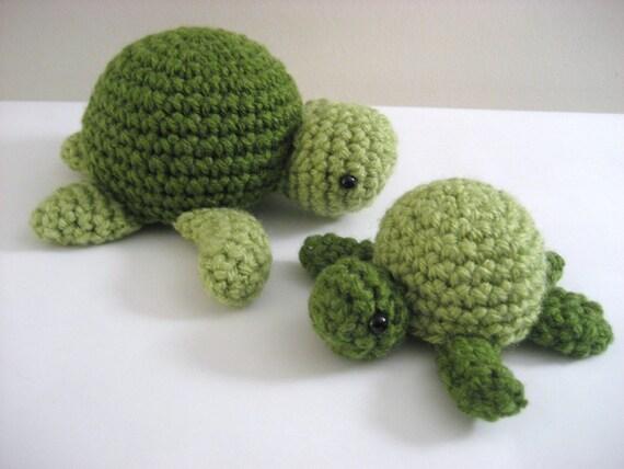 Amigurumi Turtle Pattern : Amigurumi crochet sea turtle pattern digital download