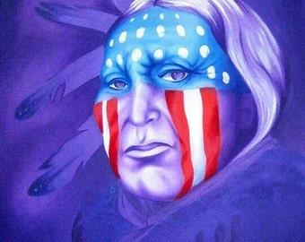 Patriot  Contemporary Native Painting