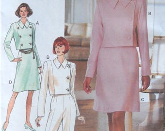 Butterick 3763 Misses Jacket Skirt and Pants Pattern Sizes 6, 8, 10, Factory Folded Uncut,  Vintage 1994, Sewing Pattern