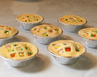 One Chicken Pot Pie. Food For American Girl Dolls.