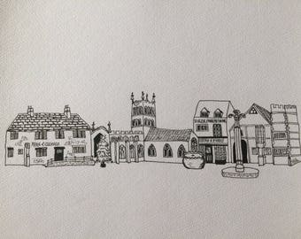 Melton Mowbray skyline