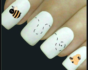 Bumble Bee Nails Etsy