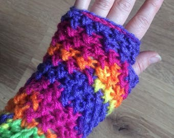 Crochet Wrist Warmers / Fingerless Gloves