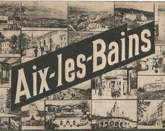 Aix-les-Bains , France,  Vintage 1918 Unused Postcard