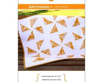 "Pattern ""Split Pinwheels"" by Orange Dot Quilts #005 Paper Pattern Easy Quilt Design"