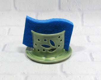 Sponge Holder - Pottery Sponge Holder - Kitchen Accessory - Sponge Caddy - Sink Caddy - Business Card Holder - Napkin Holder - Candle Holder