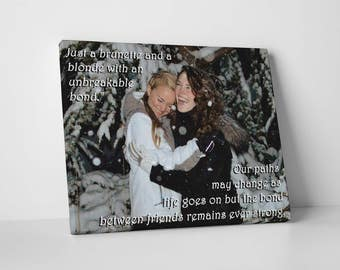 Friendship wall decor, best friend birthday gift, long distance friendship gift, best selling items, inspirational womens gift, quote art