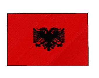 Buy 1 Take 1 Embroidery Design, Albania Flag Machine Embroidery Design, Instant Download, Fits 4x4 Hoop Size,  9 Formats